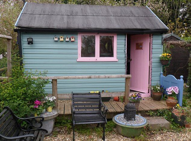 garden shed and fence transformation