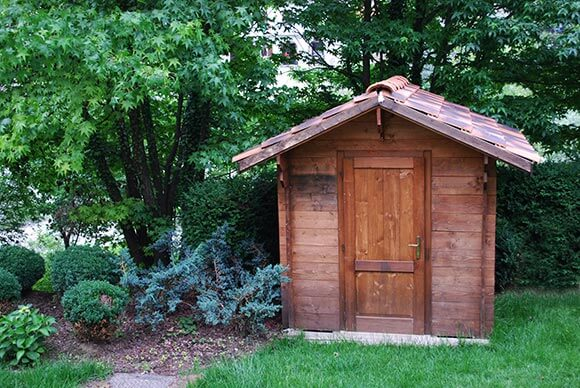 exterior wood oil used on garden shed
