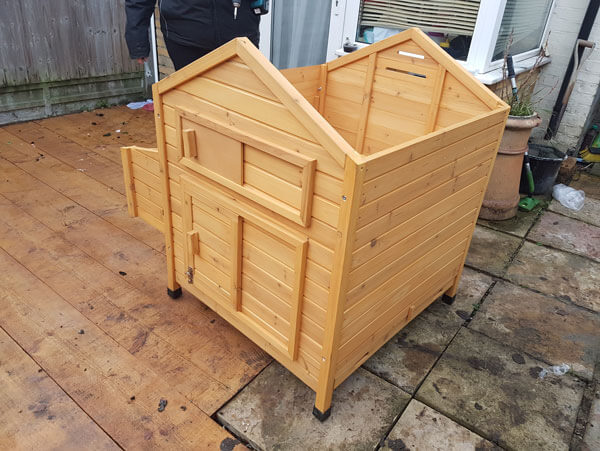 Assembling a Flat Pack Chicken Coop