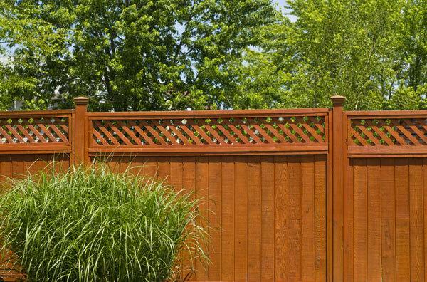 garden fence stain